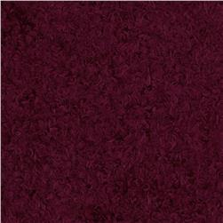 Faux Mohair Knit Wine
