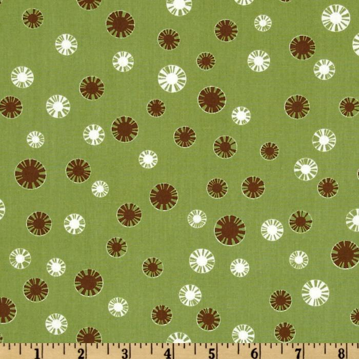 Pimatex Basics Spiral Dot Celery/White/Brown