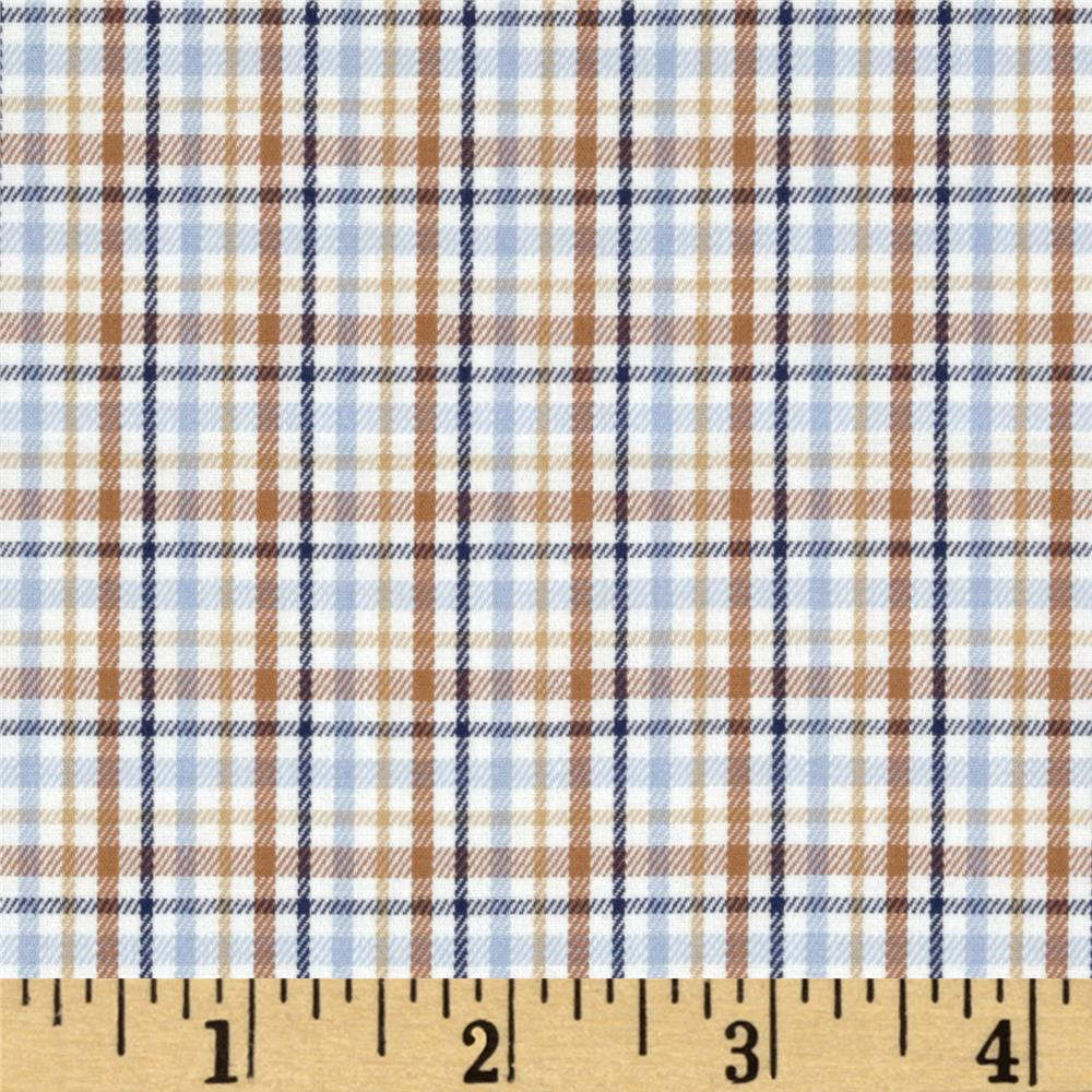 Prepster Yarn Dyed Shirting Plaid Cinnamon