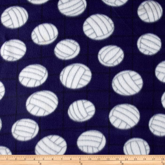 Novelty Fleece Volleyball Purple
