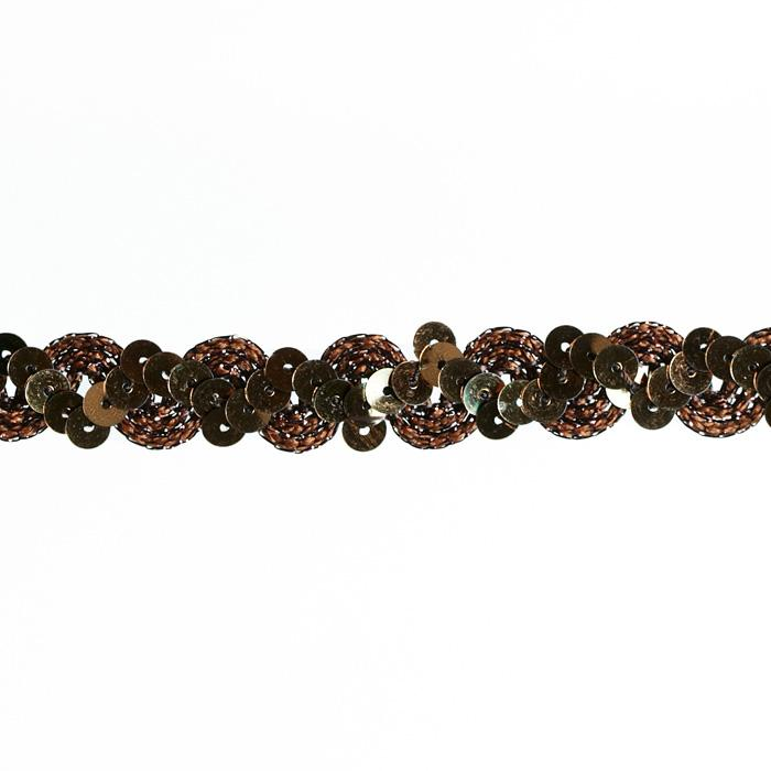 5/8&quot; Sequin Trim Copper
