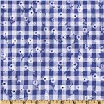 Woven 1/4&#39;&#39; Daisy Gingham Royal