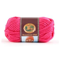 Lion Brand Hometown USA Yarn Neon Pink