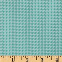 Designer Essentials Designer Houndstooth Carribbean Aqua