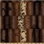 FE-846 Minky Soft Cuddle Fancy Leopard Brown/Gold