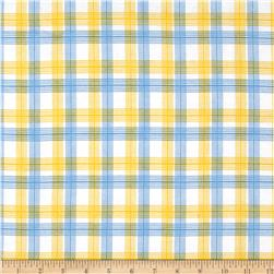Aunt Polly's Flannel Plaid Blue/Yellow