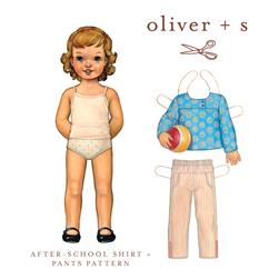 Oliver + S After School Shirt + Pants Pattern Size 5-12