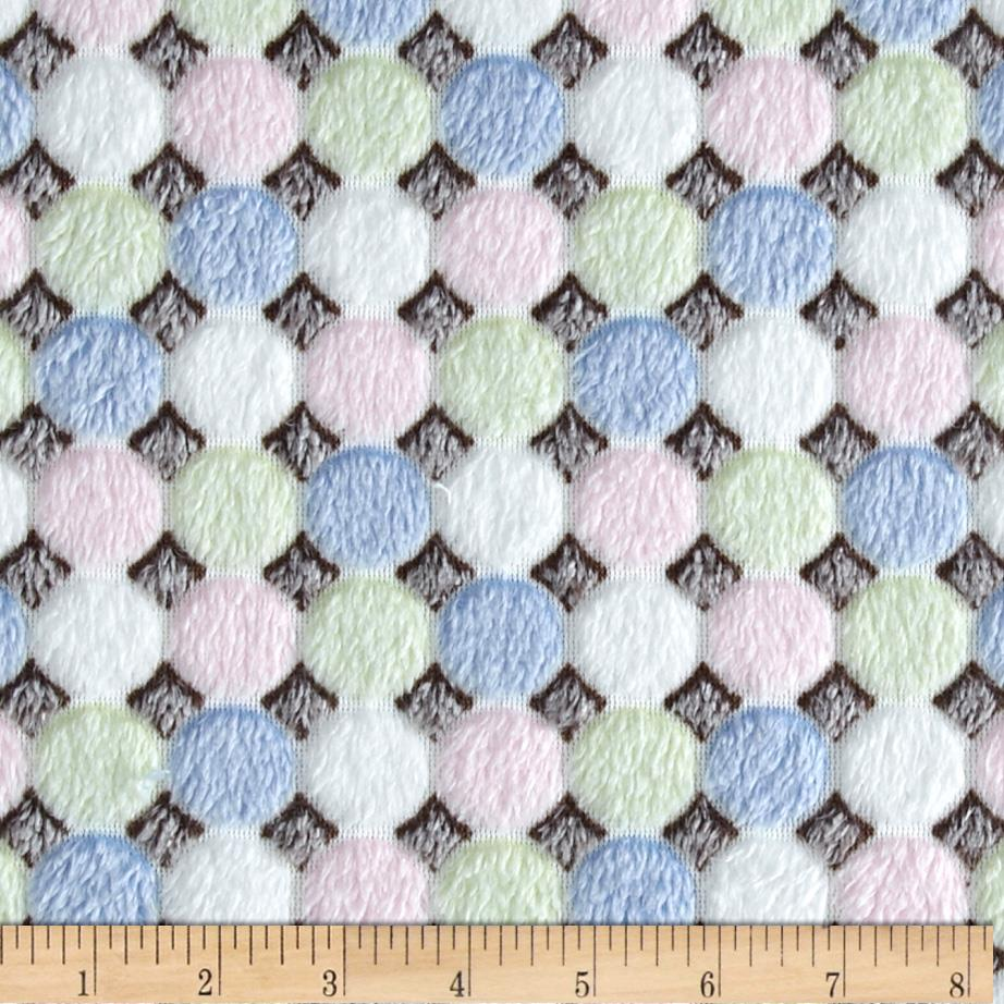 Minky Cuddle Candy White/Multi