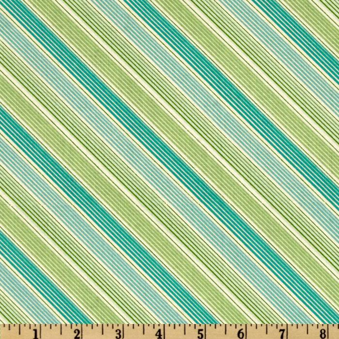 Sweet Tea Bias Stripe Turquoise