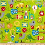 222708 Moda Apple Jack ABC&#39;s Lime