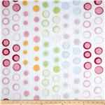 Minky Cuddle Circle White/Multi