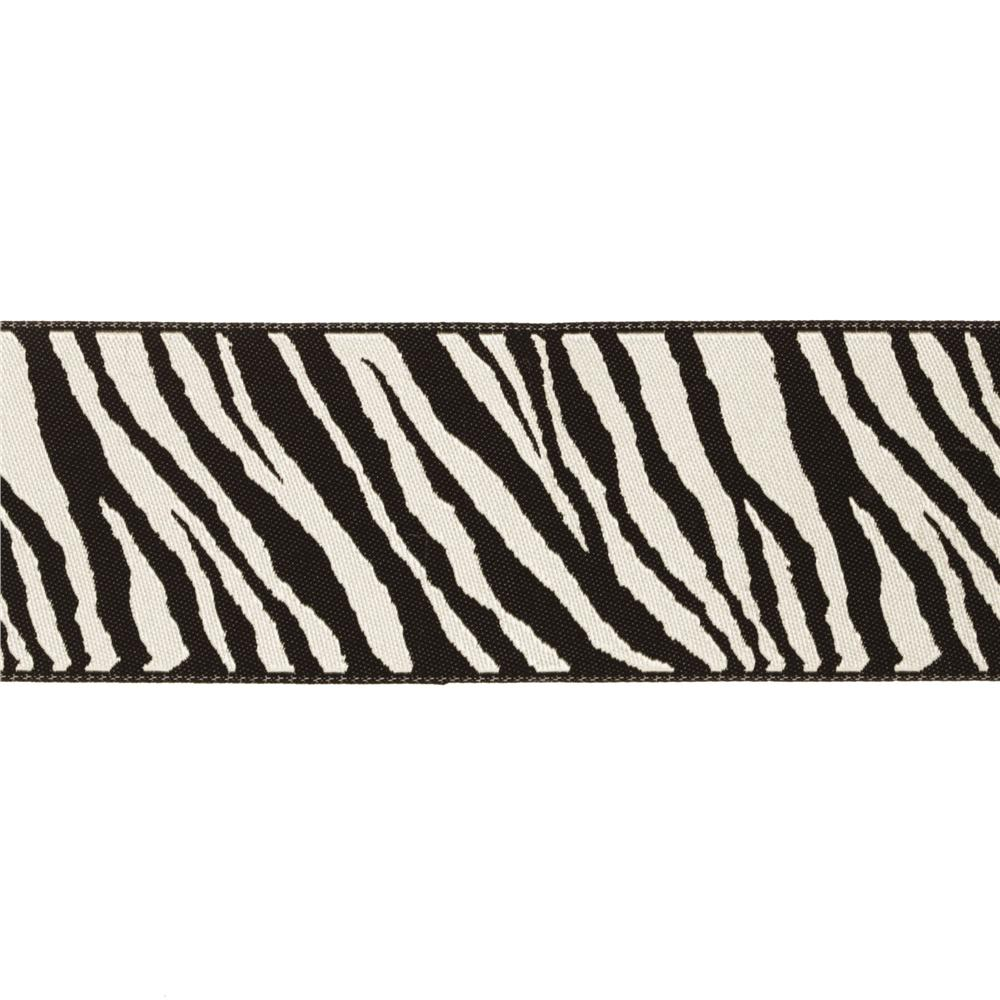 1 1/2&#39;&#39; Ribbon Zebra Black/White
