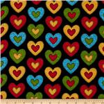0263473 School House Fancies Hearts Black
