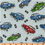 Comfy Flannel Cars Blue