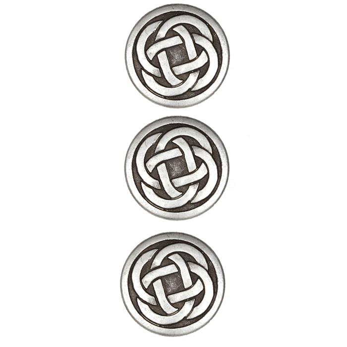 Metal Button 3/4'' Celtic Antique Silver