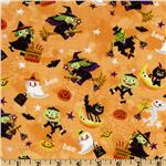 Trick or Treat Flying Witches Orange