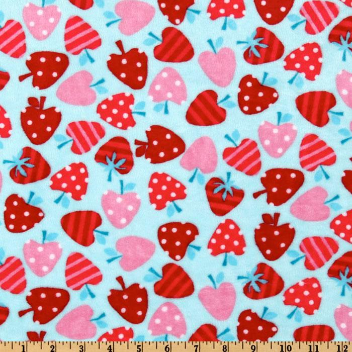 Kaufman Minky Cuddle Merry Berry Tiffany/Red