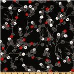 BJ-252 Michael Miller Zen Blossoms Black