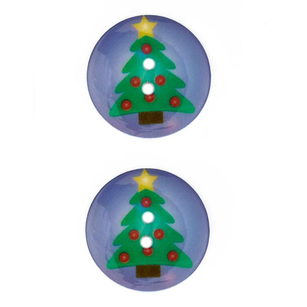 Novelty Winter Wonder Button 1 1/8&#39;&#39; Tree