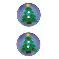 Novelty Winter Wonder Button 1 1/8'' Tree