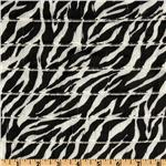 EW-108  Stretch Ruffle Knit Zebra Black