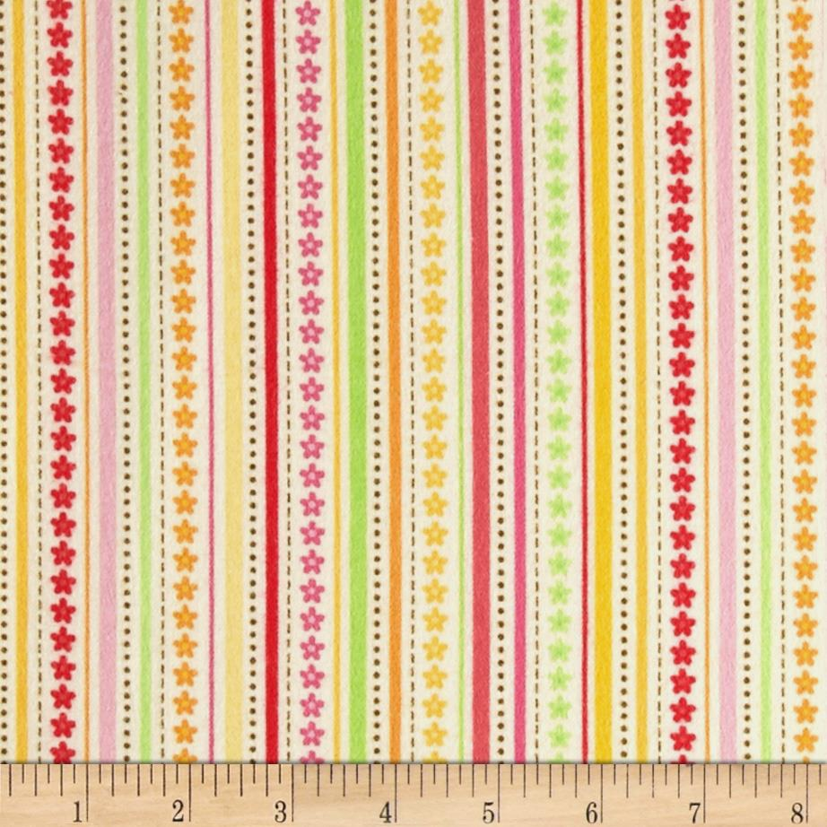 Riley Blake Ladybug Garden Flannel Stripe Yellow
