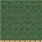 0262955 Festive Holiday Damask Spruce Green
