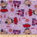Teddy Bear Princess Flannel Princess Toss Purple