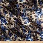 0267362 Panama Stretch Satin Spots Blue/Grey
