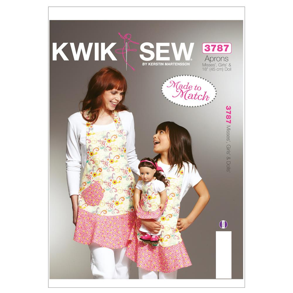 Kwik Sew Misses, Girls&#39; &amp; Dolls&#39; Apron Patterns