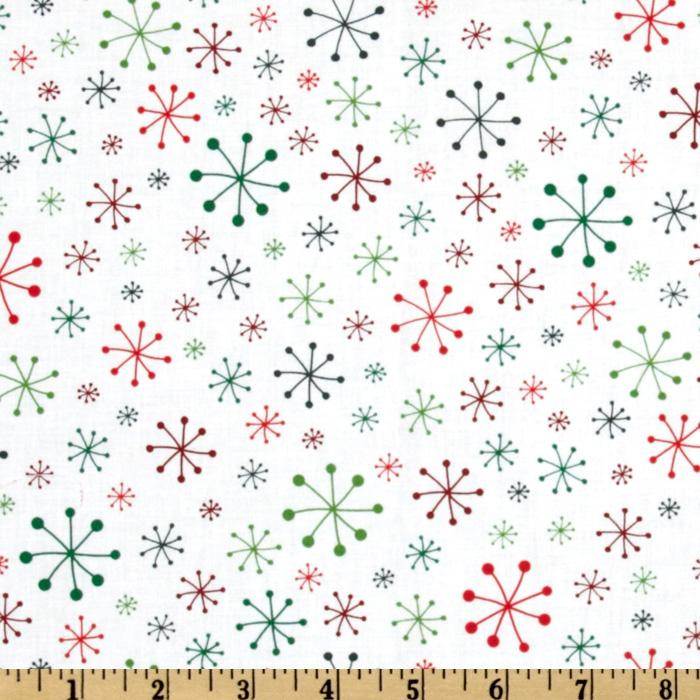 O&#39; Tinsel Tree Starry Snowflakes White