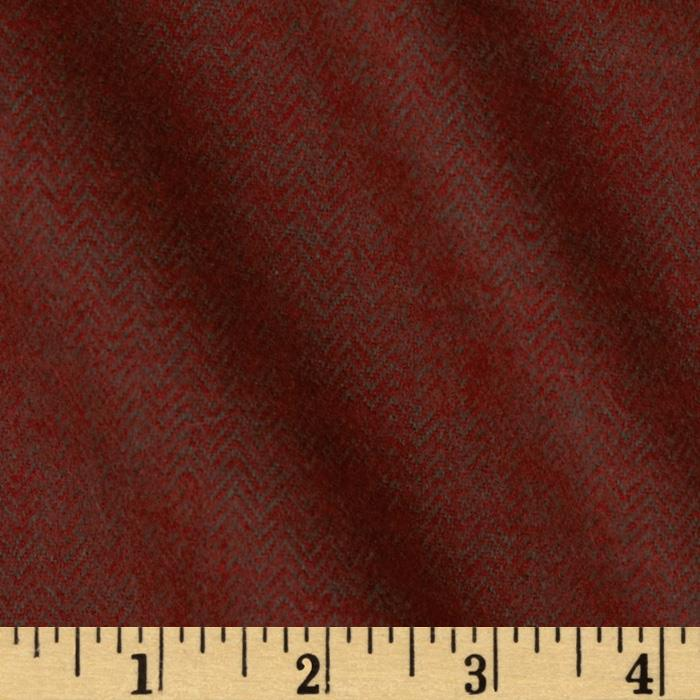 Primo Plaids Flannel Yarn Dyed Herringbone Small Burgundy