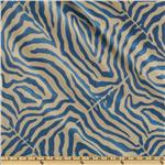 0264078 Claridge Zebra Jacquard Azul Blue