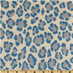 0264077 Claridge Cheetah Jacquard Azul Blue