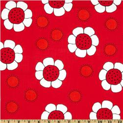 The Red Thread Large Floral Red