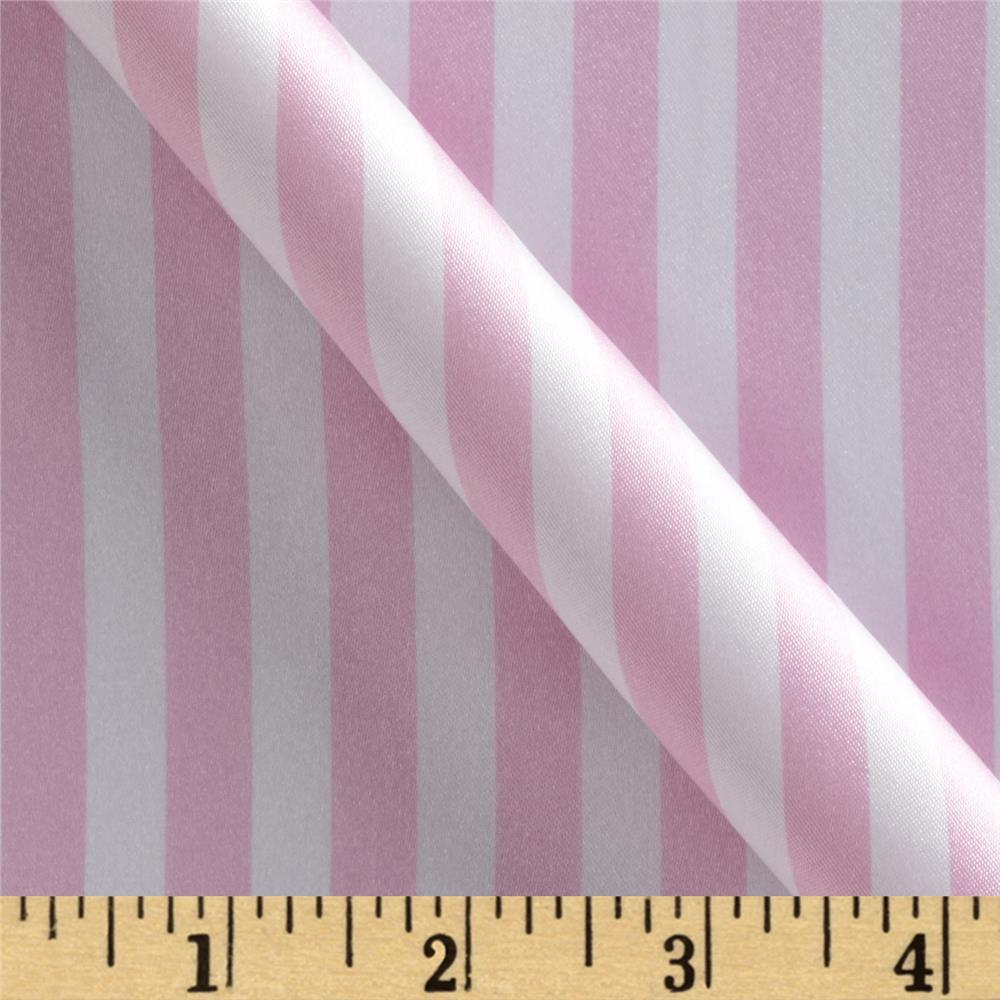 Charmeuse Satin Stripe Baby Pink