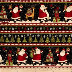 Santa's Gifts Repeating Stripe Multi