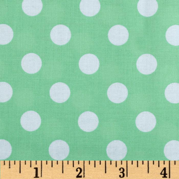 Brights & Pastels Basics Polka Dot Light Green