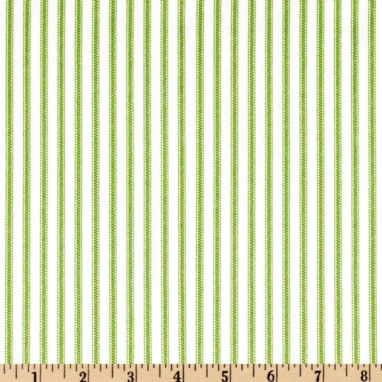 Ticking Stripe Kiwi/Ivory