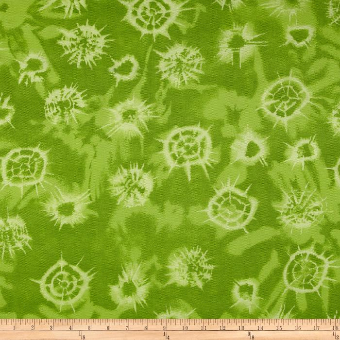 Cotton Pique Knit Abstract Lime