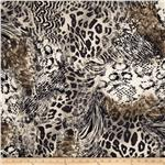 0296182 Timeless Treasures Flannel Cheetah Natural