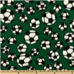 Sports Fleece Soccer Balls Green