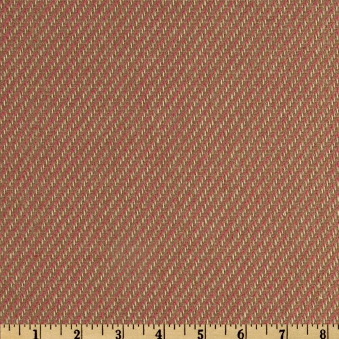 Wool Blend Coating Diagonal Weave Tan/Pink