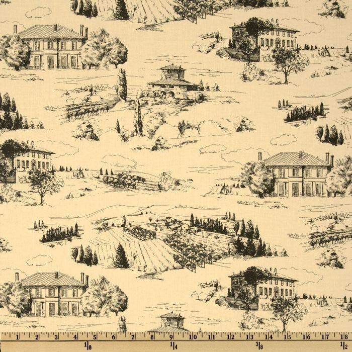 Wine & Cheese Toile Cream