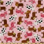 FR-688 Urban Zoologie Baby Cows Pink
