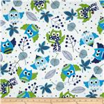 0286339 Flannel Owls Blue
