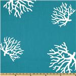 UJ-193 Premier Prints Coral True Turquoise/White