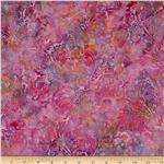Bali Batiks Filagree Plumes Tea Rose