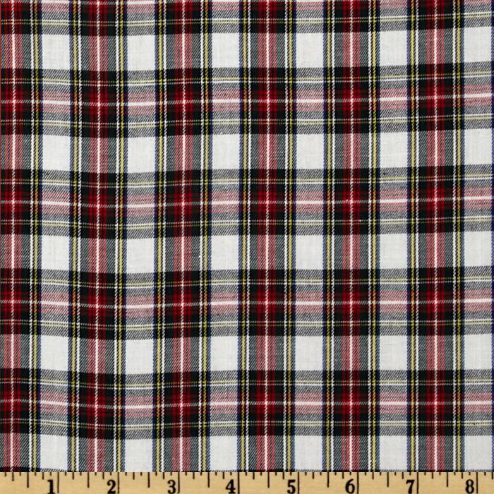 Kaufman House of Wales Plaid Shirting Natural