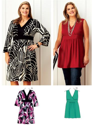 Kwik Sew Womens Dress & Tunic Plus Size Pattern